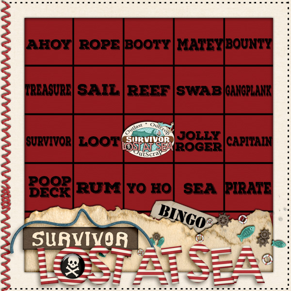 Lost at Sea week3 Bingo immunity challenge