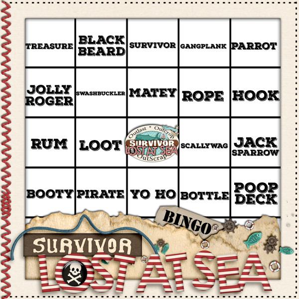 JIC Creations Bingo Card
