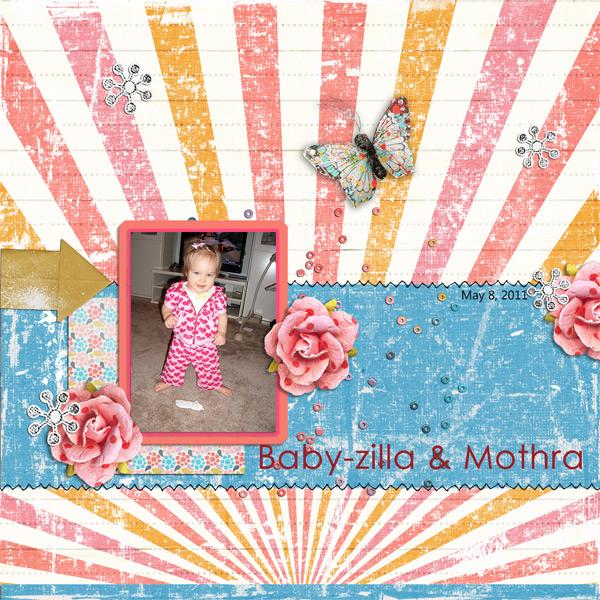 Baby-zilla and Mothra