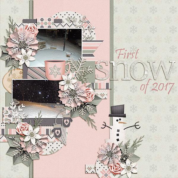 1st snow of 2017