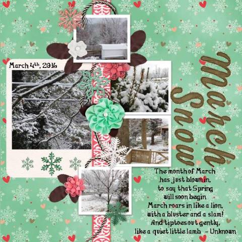 March Snow - March 2016 Template #2 Challenge