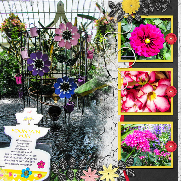 July 2016 Template Challenge - Fountain Fun At Phipps