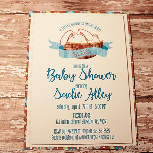 Little bunny Baby Shower Invite
