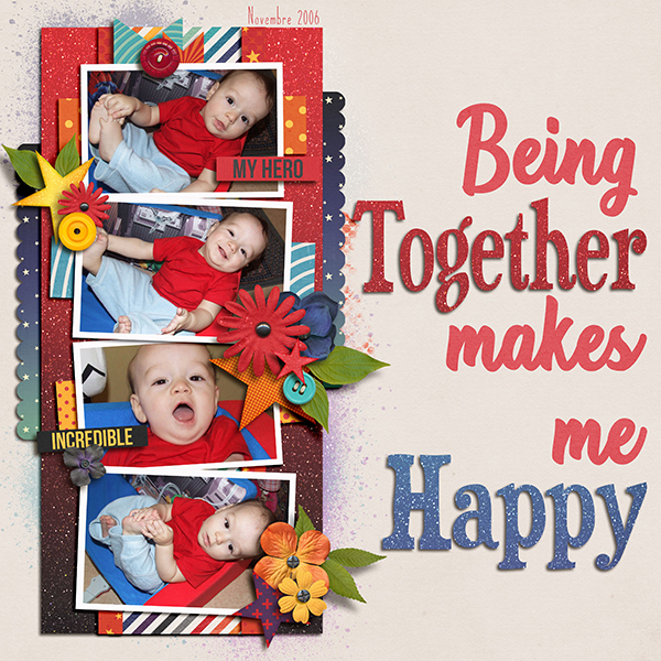 Being together makes me happy
