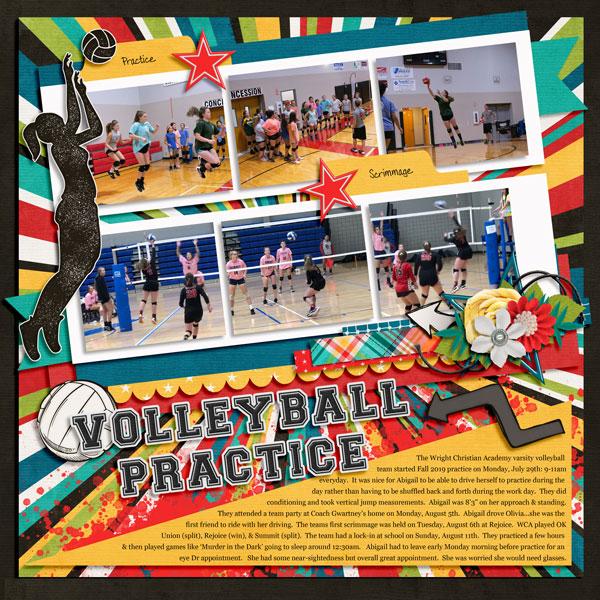 WCA Varsity Volleyball Practice 8.2019
