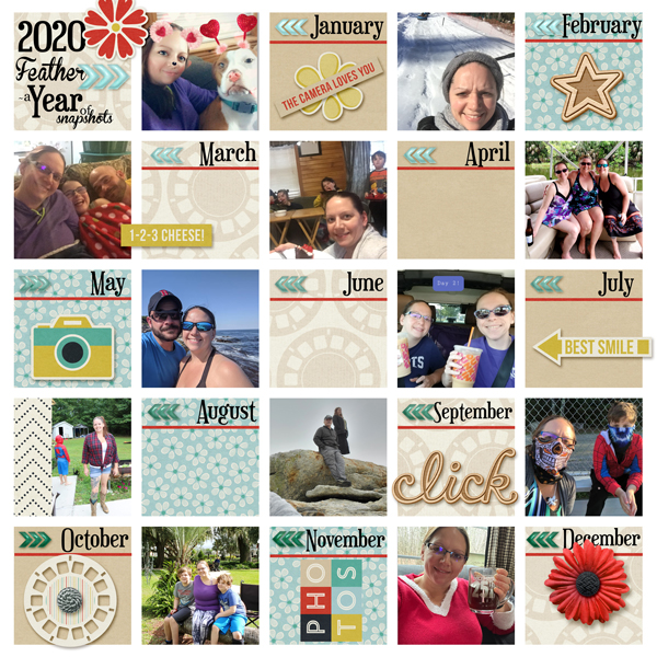 a year of snapshots