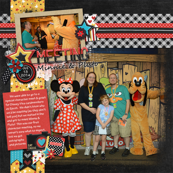 Meeting Minnie and Pluto