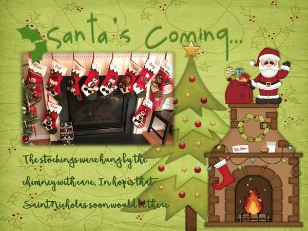 Santa Is Coming - December 2017 Brush Challenge