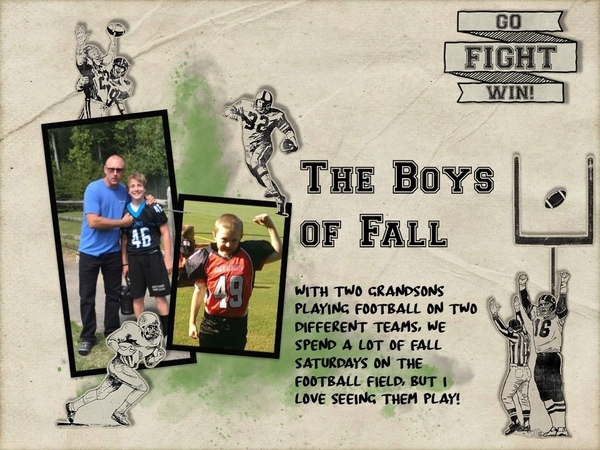 The Boys of Fall - September 2017 Template 2 Challenge