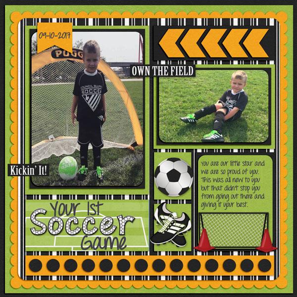 1st soccer game