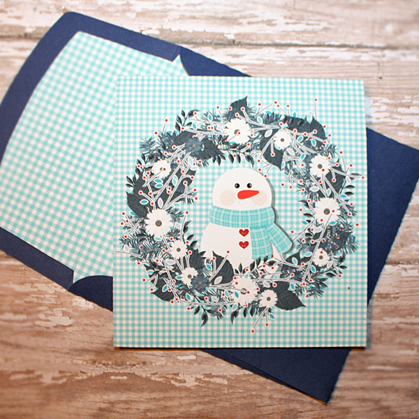 Holiday Wishes card with matching envie