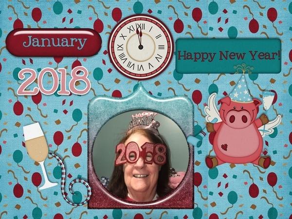 Happy New Year - January 2018 Mini Kit Challenge