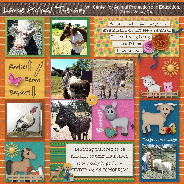 """Large Animal """"Therapy"""""""