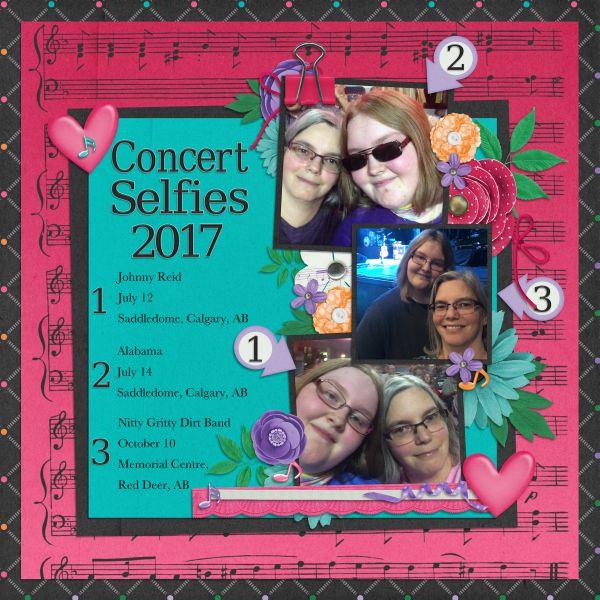 Concert Selfies 2017