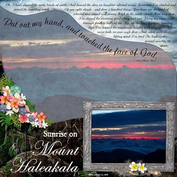 Week 2-Sunrise on Haleakala-Maui